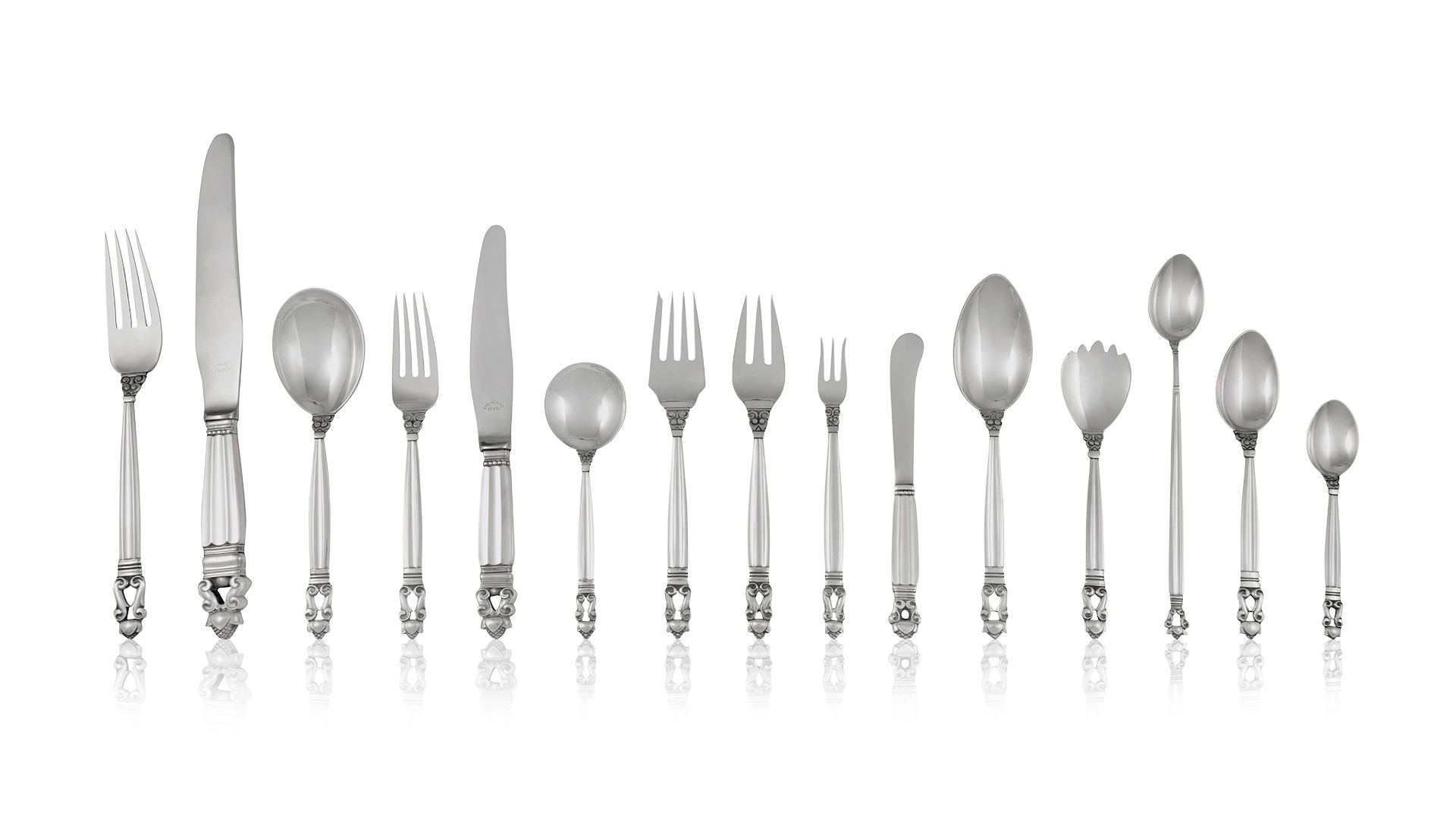 """Continental by Georg Jensen Sterling Silver Fish Fork 4-Tine 6 7//8/"""""""