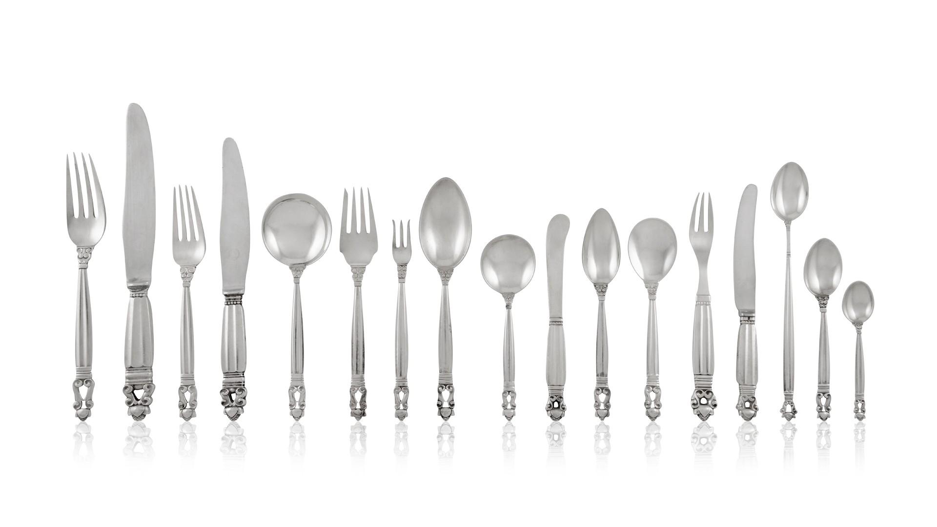 "Caravel by Georg Jensen Sterling Silver Demitasse Spoon 4/"" Vintage"