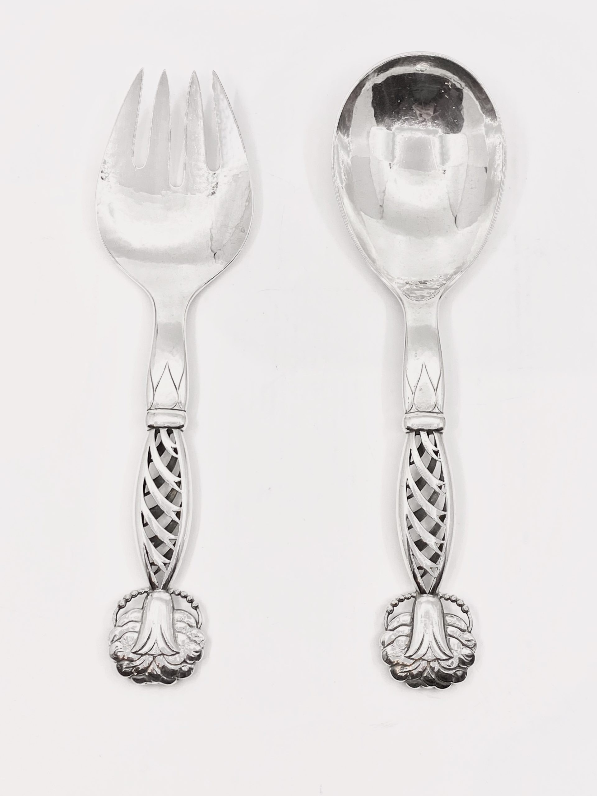 Large Serving Fork Old English  Pattern Silver Plated 1920s 103312E
